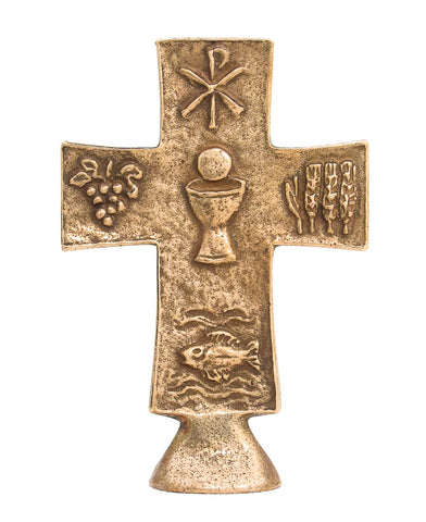 Bronze Standing Communion Cross