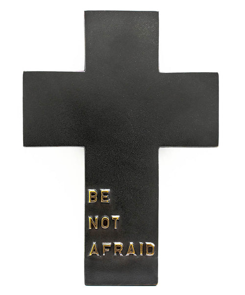 Bronze Be Not Afraid Cross