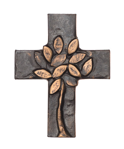 Bronze  Modern Tree Of Life Cross