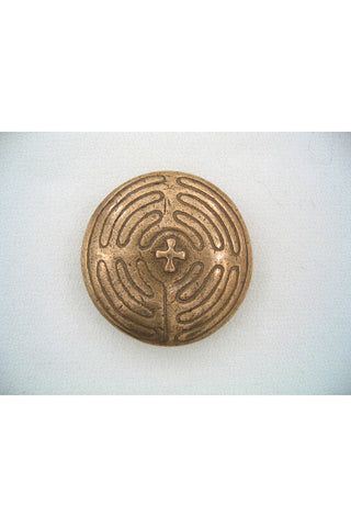 Bronze Pocket Prayers - Labyrinth with Cross