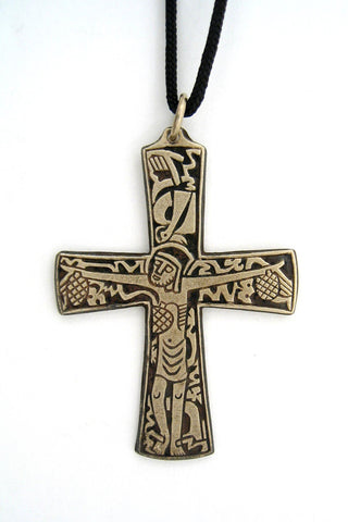 Bronze Salvation Cross Pendant