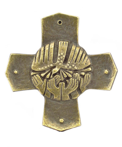 Bronze Pentecost Wall Cross