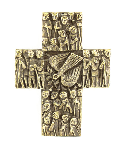 Bronze Holy Spirit Wall Cross