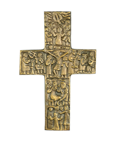 Bronze Vita Christi Wall Cross
