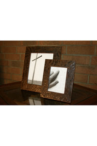 5 X 7 Bronte Leather Picture Frame with Cross Accent