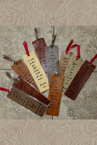 Leather Scripture Bookmarks Psalm 9:1