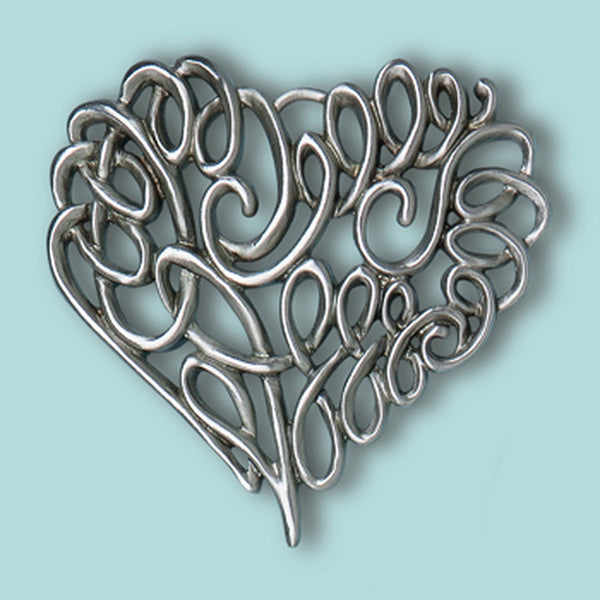 Scroll Heart Ornament