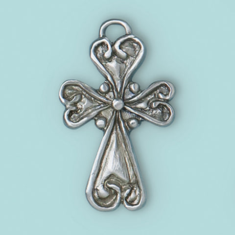 Heart Cross Ornament