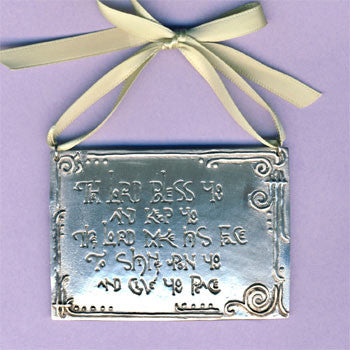 Lord Bless You Wall Ornament with Ribbon