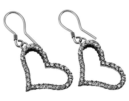 CZ Joy Heart Earrings