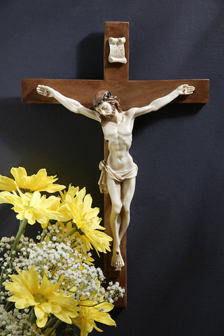 Crucifix with Alabaster Cross and Corpus - ONLY 1 LEFT