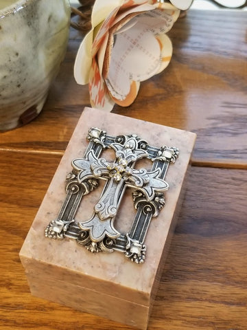 The Framed Iron Cross Keepsake Soapstone Box