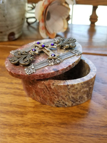 Oval Royalty Blessing Soapstone Box