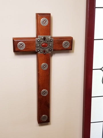 The Mission Wooden Wall Cross 24""