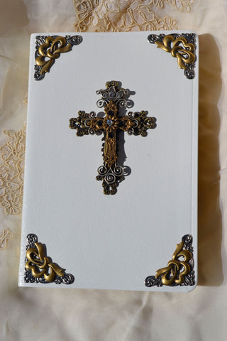 Jeweled Regal Bible - White-KJV