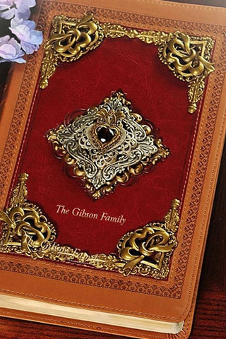KJV Jeweled Garnet Heart Bible