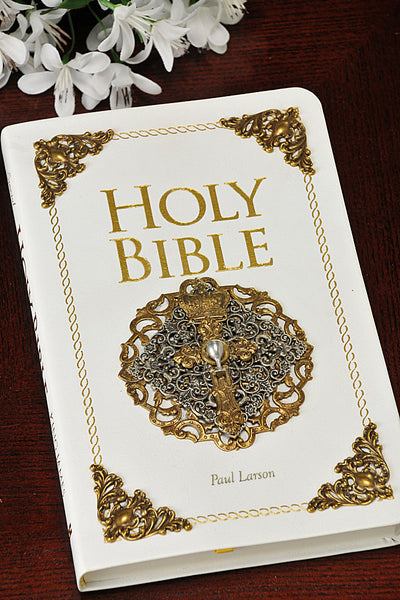 White KJV Holy Communion Bible