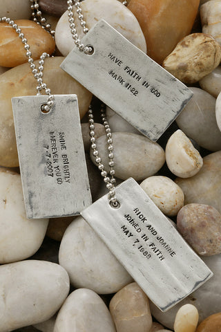 For I Know Dog Tag Necklace