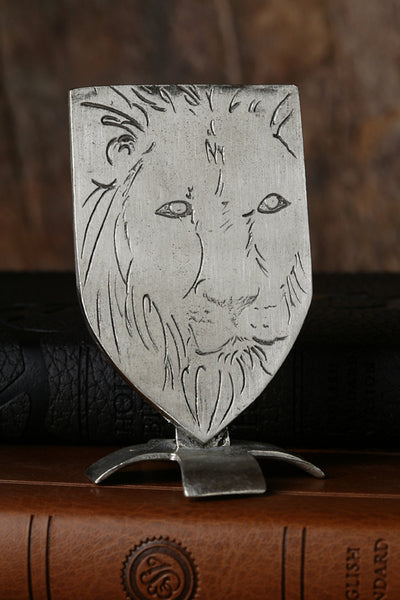Lion of Judah Pewter Shield
