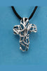 "Mexico Sterling Silver Cross with 18"" Leather Cord"
