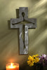 Brushed Steel Crucifix 6""