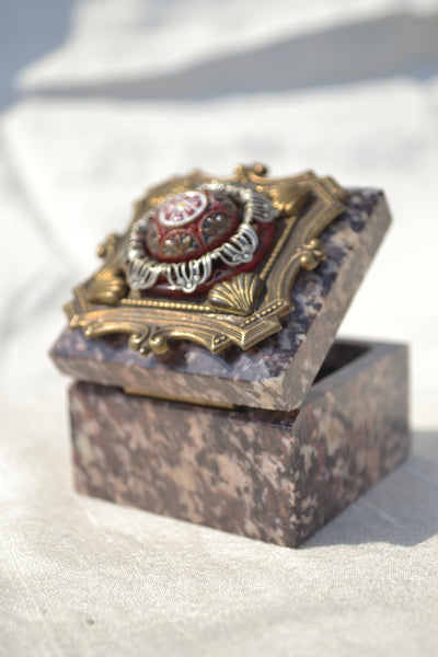 Soapstone Crown Ring Box