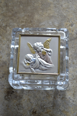 Guardian Angel with Lamp Keepsake Box