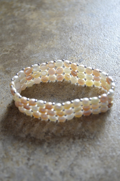 Freshwater Cultured  Natural Multi-Colored Pearl Bracelet
