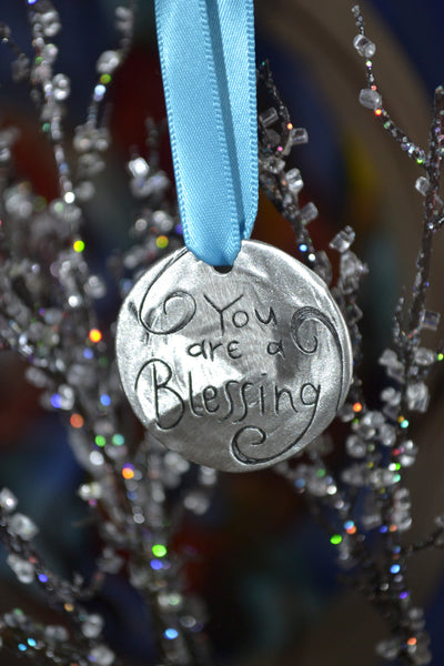 ON SALE You are a Blessing Pewter Ornament