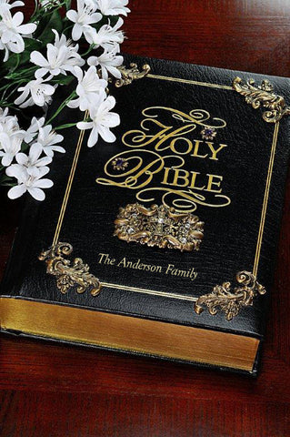 Amethyst KJV Family Faith & Values Large Print Family Bible-Black