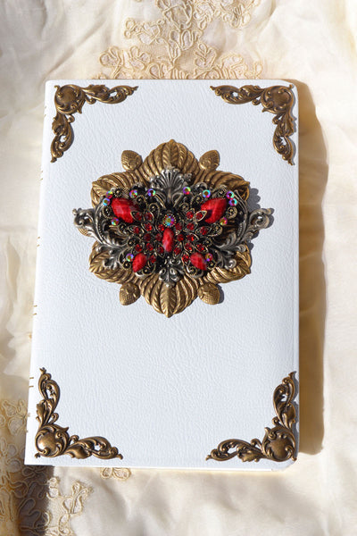 Jeweled Crystal Butterfly Personal Size Bible KJV-Red