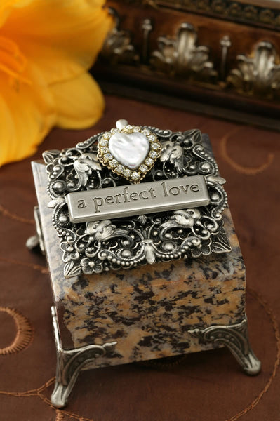 A Perfect Love Heart Stone Box