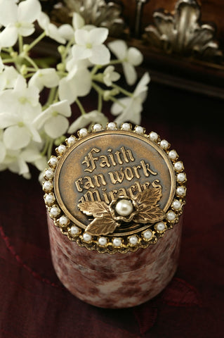 Faith Can Work Miracles Stone Keepsake Box