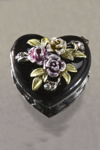 ON SALE Delicate Heart Shaped Trinket Box