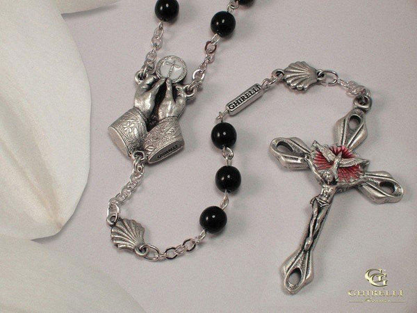Dove of The Holy Spirit Silver Plated Rosary
