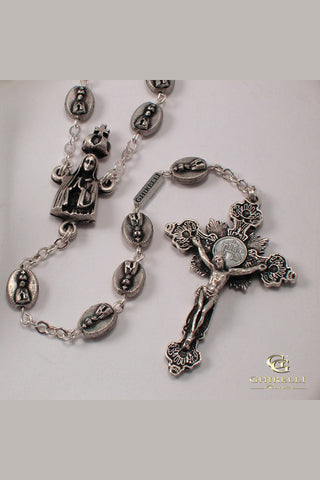 Matteo Antique Silver Bead Rosary
