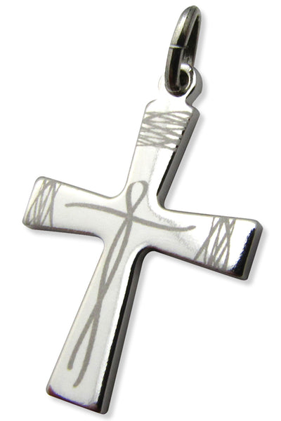 "The Thread Lines Crucifix or "" Christ Fil Liens "" in Sterling Silver"