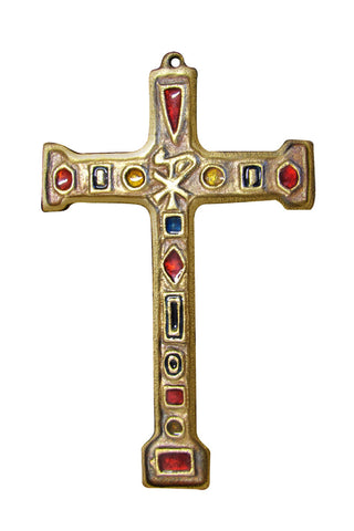 "NEW YEAR SALE ON SALE Large Pectoral Bronze Cross ""Conquerers"""