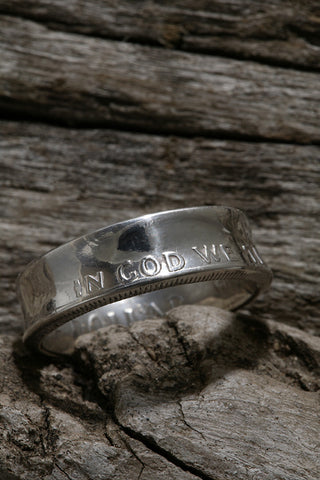 Franklin Silver Half Dollar Ring
