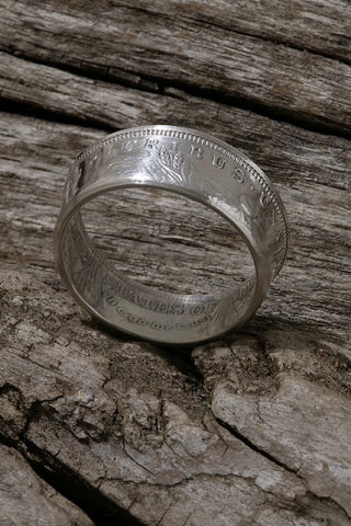 ON SALE Morgan Silver Dollar Ring Size 20