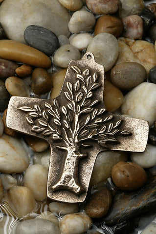 Tree of Life Bronze Cross