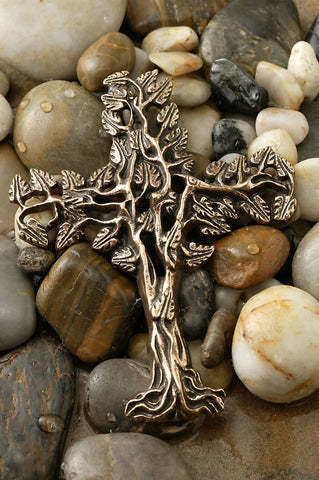 Filigree Tree of Life Bronze Cross ~10.5""