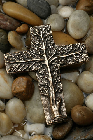 Tree of Life Bronze Cross-3 Sizes: Choice of Small, Medium or Large
