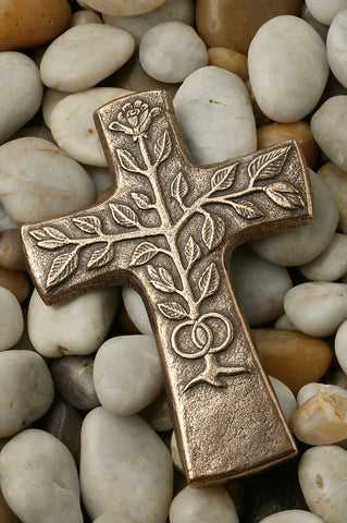 Tree of Life Wedding Bronze Cross