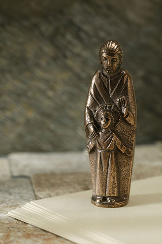 Saint Joseph with Jesus Statuette
