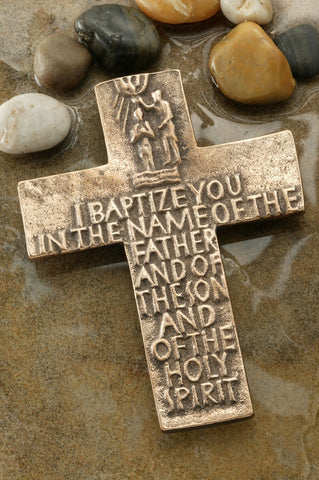 I Baptize You Bronze Cross