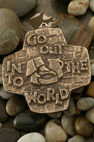 Go Out Into The World Bronze Cross