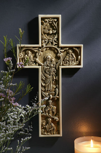 True Church Alabaster Wall Cross