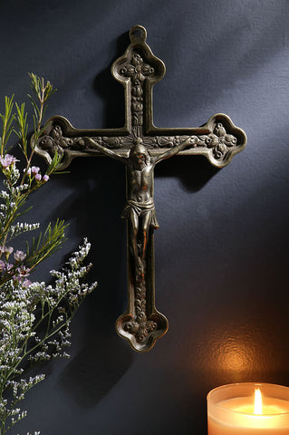 Orthodox Brass Wall Crucifix