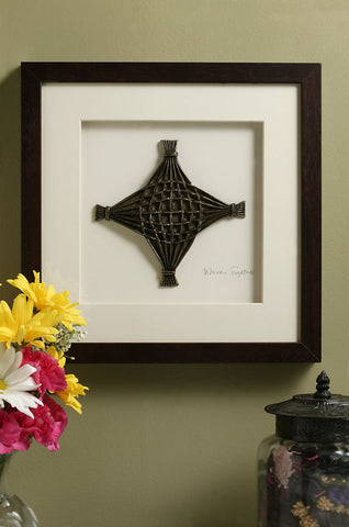 Woven Together Framed Bronze Sculpture